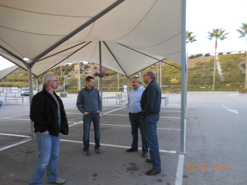 Lagebesprechung bei der Weltschau Almeria 2012